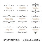 hand drawn set of decorative... | Shutterstock .eps vector #1681683559