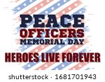 peace officers memorial day.... | Shutterstock .eps vector #1681701943
