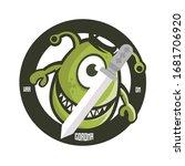 war on corona . cartoon virus...   Shutterstock .eps vector #1681706920