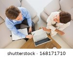 business team working together... | Shutterstock . vector #168171710