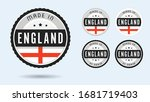 made in england. set of labels...   Shutterstock .eps vector #1681719403
