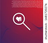 search heart icon vector ....