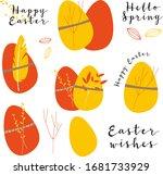 vector bright set for easter... | Shutterstock .eps vector #1681733929
