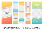insta stories template  social... | Shutterstock .eps vector #1681733953