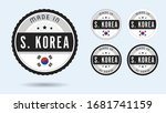 made in south korea. set of... | Shutterstock .eps vector #1681741159