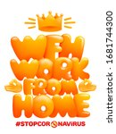 wfh   work from home acronym ... | Shutterstock .eps vector #1681744300