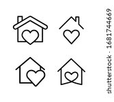 heart with home shape designed... | Shutterstock .eps vector #1681744669