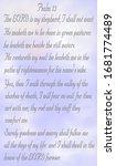 Funeral Memorial Prayer Card...