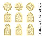 gold arabic ornamental windows... | Shutterstock .eps vector #1681788556