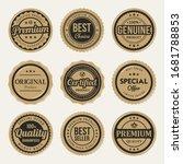 certified premium vintage...   Shutterstock .eps vector #1681788853