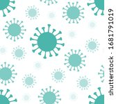 coronavirus silhouette green... | Shutterstock .eps vector #1681791019