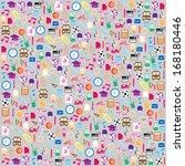 back to school seamless... | Shutterstock .eps vector #168180446