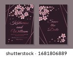 set of luxury floral wedding... | Shutterstock .eps vector #1681806889