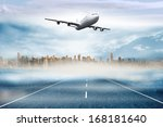 large city on the horizon... | Shutterstock . vector #168181640