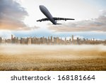 large city on the horizon... | Shutterstock . vector #168181664