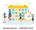planning schedule  calendar or... | Shutterstock .eps vector #1681821163