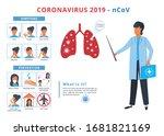 coronavirus prevention and...   Shutterstock .eps vector #1681821169