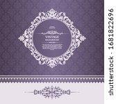 elegant purple ornate vector... | Shutterstock .eps vector #1681822696