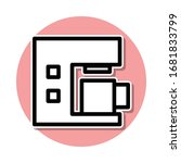 coffee machine sticker icon....