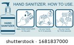 hand sanitizer. how to use.... | Shutterstock .eps vector #1681837000