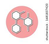 honeycomb sticker icon. simple...