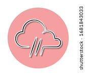 weather sign rain sticker icon. ...