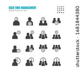 simple set of time management... | Shutterstock .eps vector #1681844380