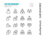 simple set of time management... | Shutterstock .eps vector #1681844383