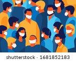 coronavirus banner for... | Shutterstock .eps vector #1681852183