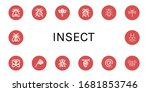 insect icon set. collection of... | Shutterstock .eps vector #1681853746