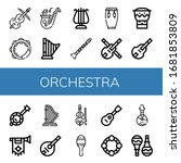 Set Of Orchestra Icons. Such As ...