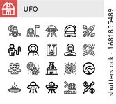 ufo icon set. collection of...   Shutterstock .eps vector #1681855489