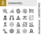 set of cogwheel icons. such as... | Shutterstock .eps vector #1681857403