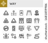 Way Icon Set. Collection Of...
