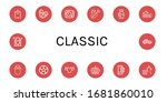 set of classic icons. such as... | Shutterstock .eps vector #1681860010
