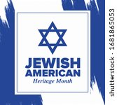 jewish american heritage month. ...   Shutterstock .eps vector #1681865053
