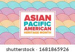 asian pacific american heritage ... | Shutterstock .eps vector #1681865926