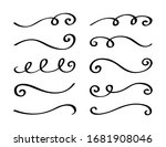 ornament divider collection.... | Shutterstock .eps vector #1681908046