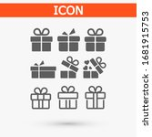 gift boxes  vector work set... | Shutterstock .eps vector #1681915753