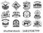 set of outdoor adventure quotes ...   Shutterstock .eps vector #1681938799