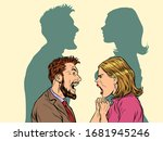 man and woman conflict quarrel... | Shutterstock .eps vector #1681945246