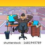 a businessman reflects on a... | Shutterstock .eps vector #1681945789