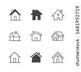 house doodle illustrations ... | Shutterstock .eps vector #1681952719