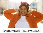 Afro American Woman In An Urban ...