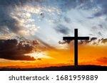 Wooden Cross Against Sky...