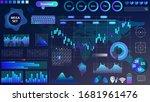 blue violet vector hud set in...   Shutterstock .eps vector #1681961476