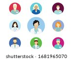 set of medical staff icons.... | Shutterstock . vector #1681965070