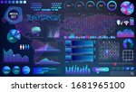 blue violet vector hud set in...   Shutterstock .eps vector #1681965100
