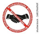 no handshake icon.  nohandshake.... | Shutterstock .eps vector #1681966969