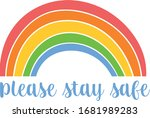 please stay safe. hope corona... | Shutterstock .eps vector #1681989283